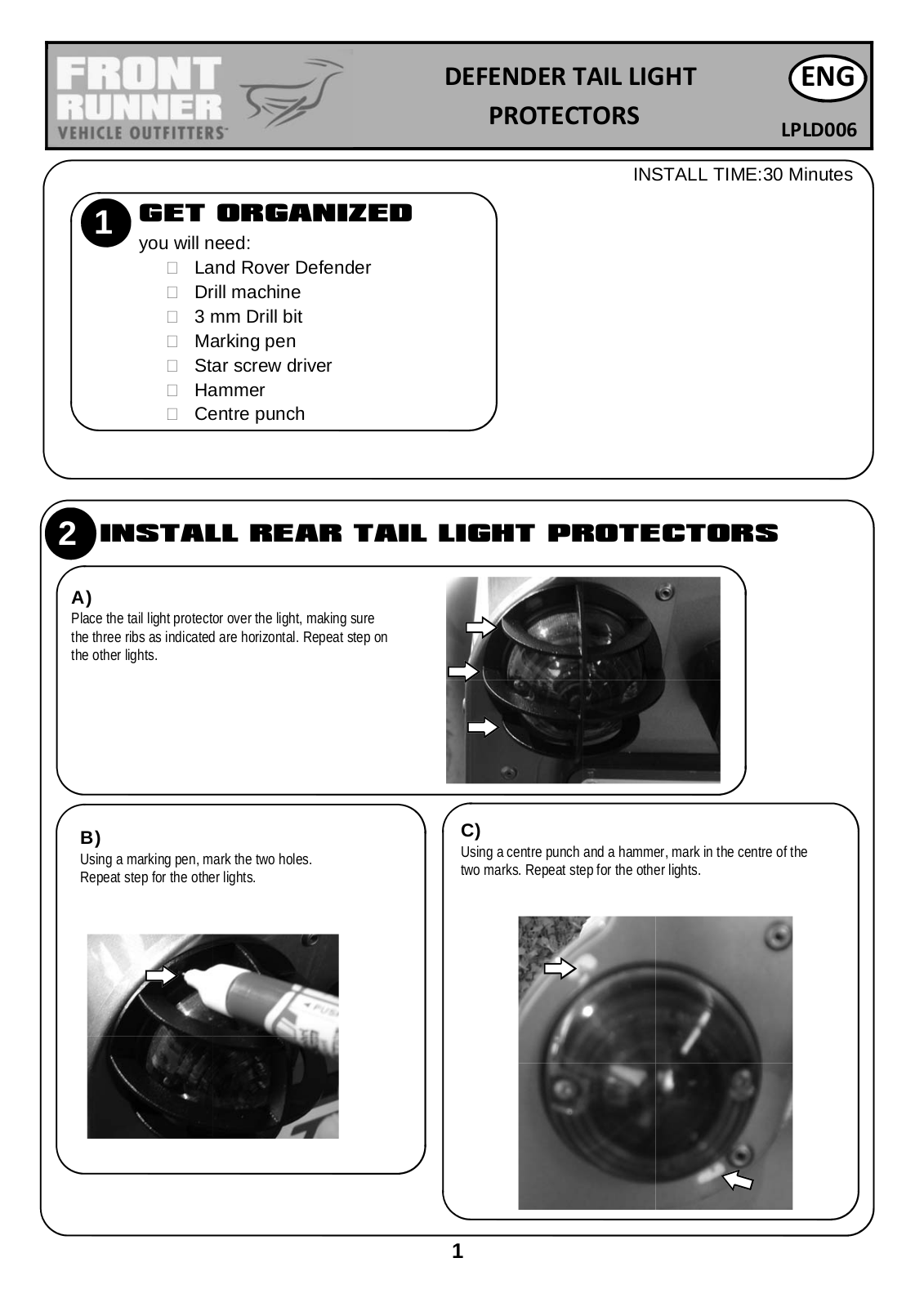 Installation instructions for LPLD006